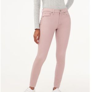 Aeropostale Pink high waisted ankle jeans